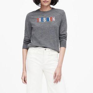 Banana Republic Très Bien Merino Wool Sweater Sz S